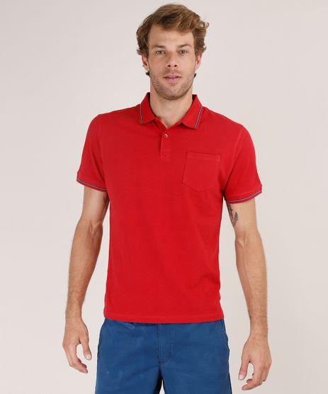 Polo-Masculina-Basica-Comfort-Fit-em-Piquet-com-Bolso-Manga-Curta-Vermelha-9728137-Vermelho_1