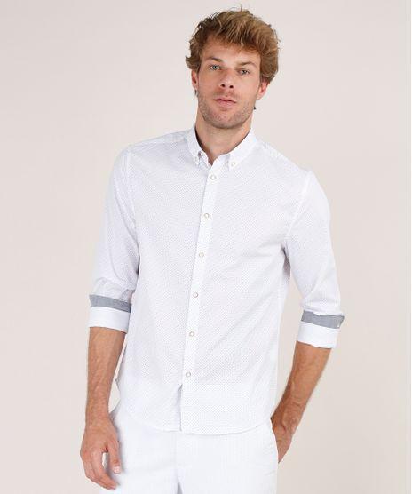 Camisa-Masculina-Tradicional-Estampada-Mini-Print-Manga-Longa-Branca-9645923-Branco_1