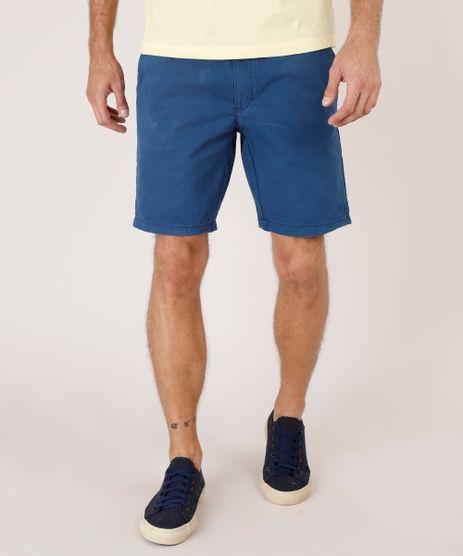 Bermuda-de-Sarja-Masculina-Reta-Alfaiatada-com-Cordao--Azul-Marinho-9754110-Azul_Marinho_1