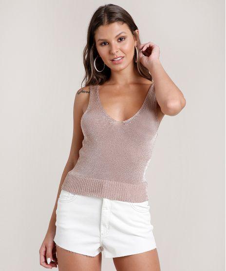 Regata-Feminina-em-Trico-com-Lurex-Alca-Larga-Decote-V-Rose-9655793-Rose_1