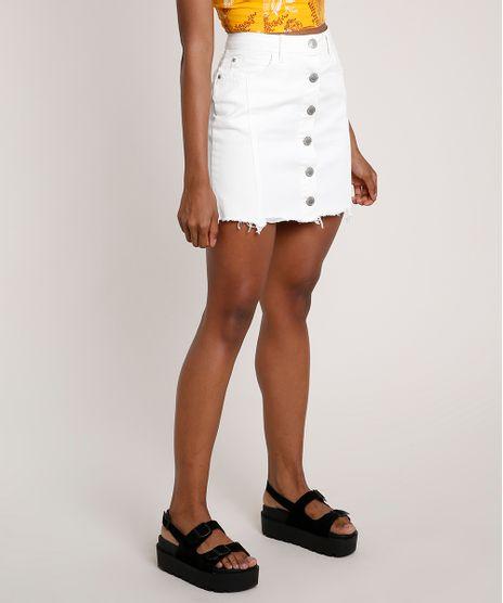 Saia-de-Sarja-Feminina-Curta-com-Botoes-e-Barra-Desfiada-Off-White-9833799-Off_White_1