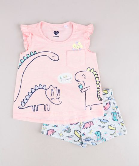 Conjunto-Infantil-de-Regata-Dinossauros-com-Babado-Rosa-Claro---Short-Estampado-Cinza-Mescla-Claro-9785516-Cinza_Mescla_Claro_1