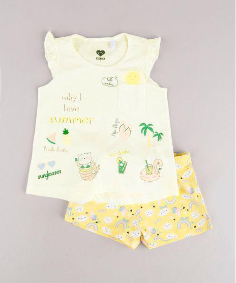 Conjunto-Infantil-de-Regata-Tropical-com-Babado-Off-White---Short-Estampado-Amarelo-9785517-Amarelo_1