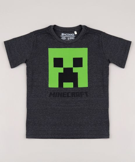 Camiseta-Infantil-Minecraft-Creeper-Manga-Curta-Cinza-Mescla-Escuro-9848352-Cinza_Mescla_Escuro_1