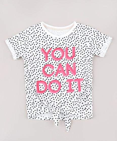 Blusa-Infantil--You-can-do-it--Estampada-de-Poa-com-No-Manga-Curta--Off-White-9839262-Off_White_1
