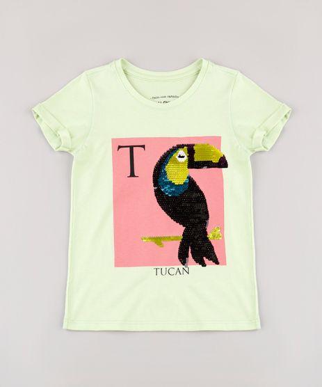 Blusa-Infantil-Tucano-com-Paete-Dupla-Face-Manga-Curta--Verde-Claro-9748624-Verde_Claro_1