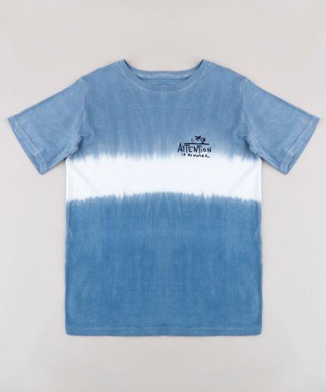Camiseta-Infantil--Summer--com-Degrade-Manga-Curta-Azul-9770831-Azul_1