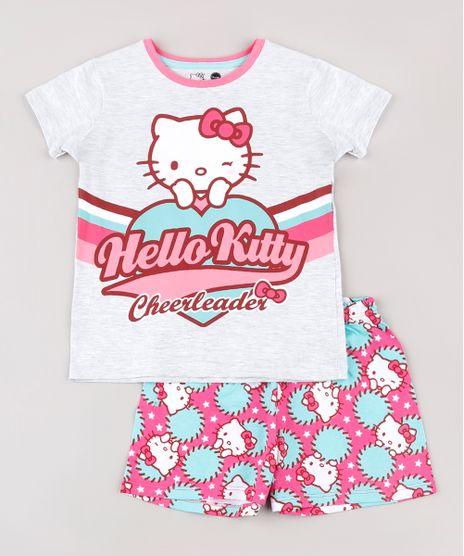 Pijama-Infantil-Hello-Kitty-Manga-Curta--Cinza-Mescla-9762304-Cinza_Mescla_1