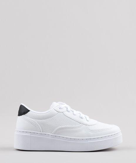 Tenis-Feminino-Oneself-Flatform-com-Micro-Furos-Branco-9796716-Branco_1