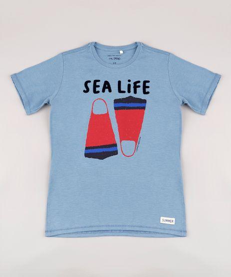 Camiseta-Infantil--Sea-Life--Manga-Curta-Azul-9732779-Azul_1
