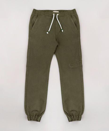 Calca-de-Sarja-Infantil-Jogger-Verde-Militar-9767898-Verde_Militar_1