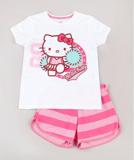 Pijama-Infantil-Hello-Kitty-Manga-Curta--Branco-9762303-Branco_1
