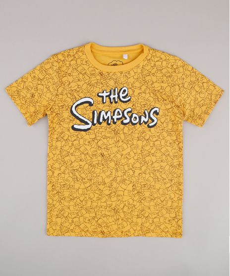 Camiseta-Infantil-Bart-Os-Simpsons-Estampada-Manga-Curta-Amarela-9818724-Amarelo_1