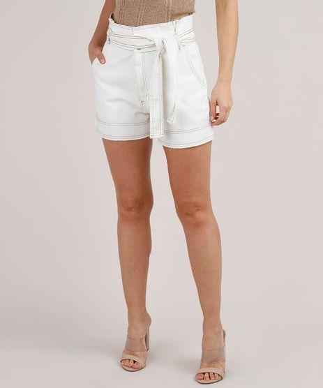 Short-Jeans-Feminino-Clochard-com-Barra-desfiada-e-Faixa-para-Amarrar-Off-White-9833566-Off_White_1