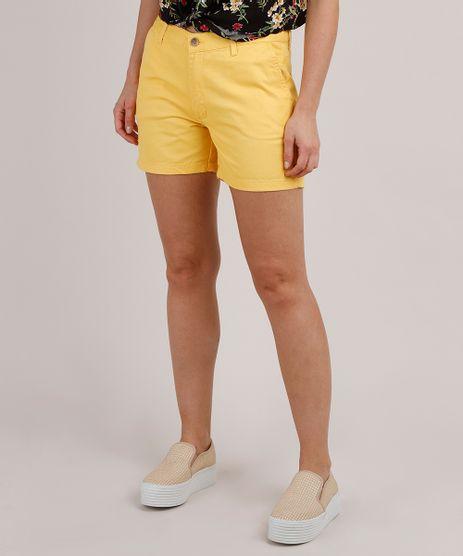Short-de-Sarja-Feminino-Midi--Amarelo-9816713-Amarelo_1