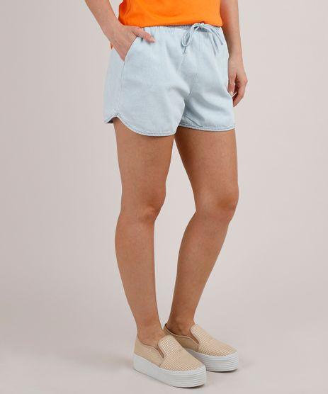 Short-Jeans-Feminino-Running-com-Cordao--Azul-Claro-9818274-Azul_Claro_1