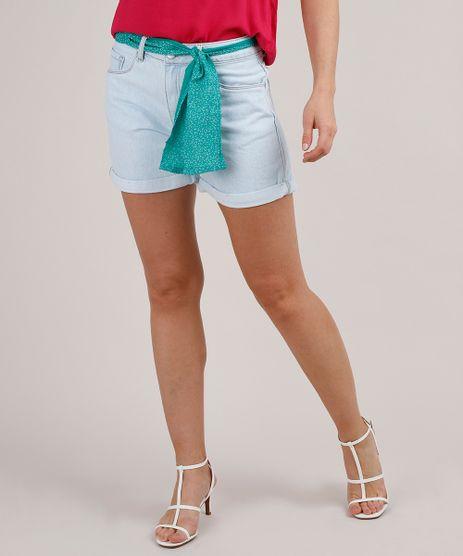 Short-Jeans-Feminino-Midi-Barra-Dobrada-com-Faixa-Estampada-Azul-Claro-9823689-Azul_Claro_1