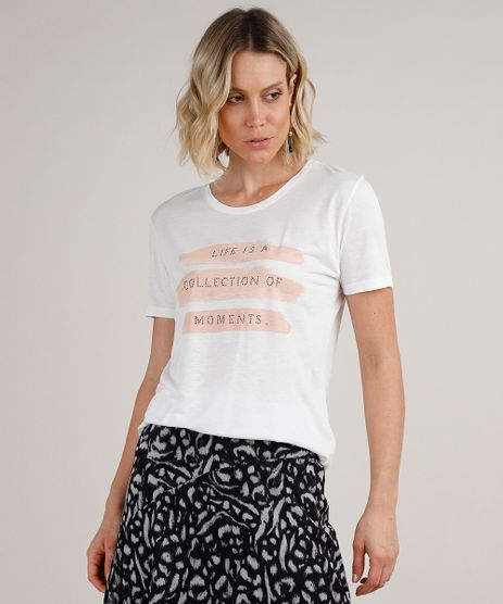 Blusa-Feminina--Collection-of-Moments--Manga-Curta-Decote-Redondo-Off-White-9774356-Off_White_1