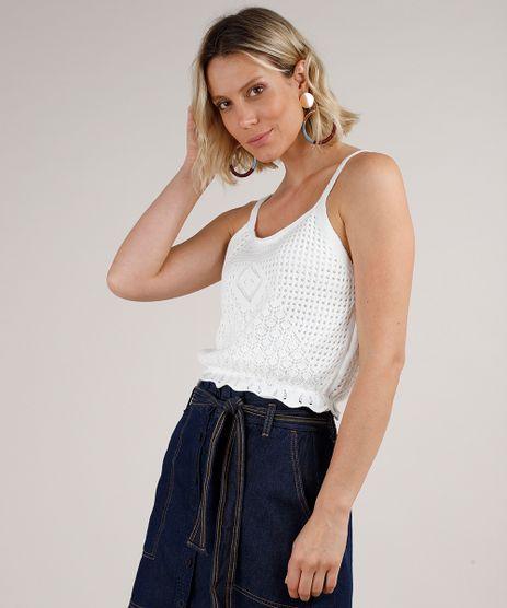 Regata-Feminina-Cropped-em-Croche-com-Babado-Alca-Fina-Decote-Redondo-Branca-9691943-Branco_1