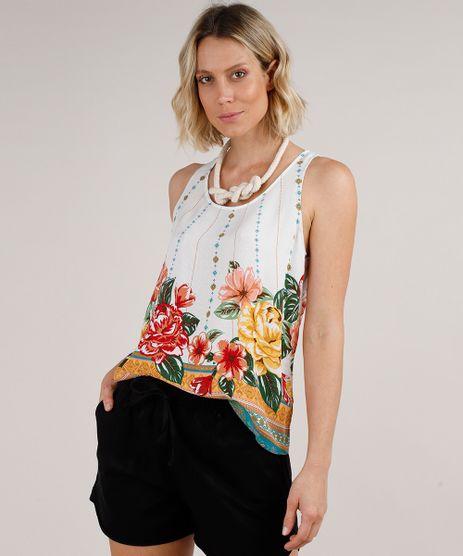 Regata-Feminina-Ampla-Maquinetada-Estampada-Floral-Decote-Redondo-Off-White-9679955-Off_White_1