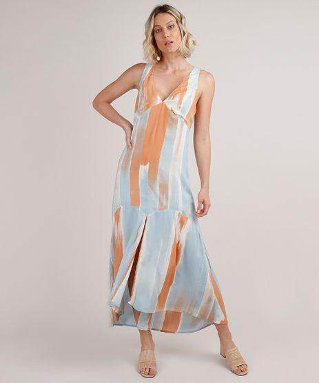 Vestido-Feminino-Longo-Estampado-com-Fenda-Alca-Larga-Azul-Claro-9681373-Azul_Claro_1