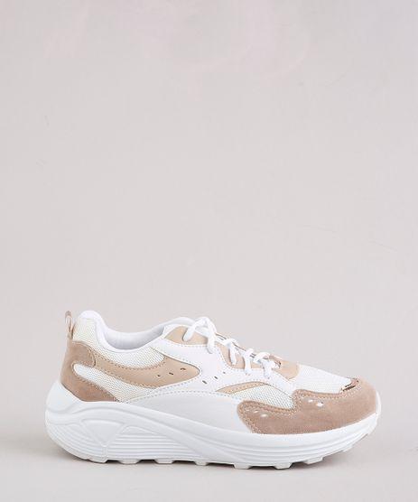 Tenis-Chunky-Feminino-Oneself-com-Recortes-Branco-9705207-Branco_1