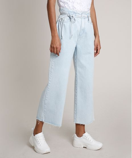 Calca-Jeans-Feminina-Pantacourt-com-Cordao-Azul-Claro-9833815-Azul_Claro_1