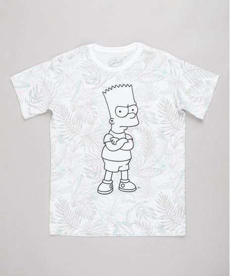 Camiseta-Infantil-Bart-Simpson-Estampada-de-Folhagem-Manga-Curta-Off-White-9732785-Off_White_1