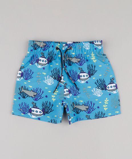 Bermuda-Surf-Infantil-Estampada-Fundo-do-Mar-com-Bolso-Azul-9667560-Azul_1