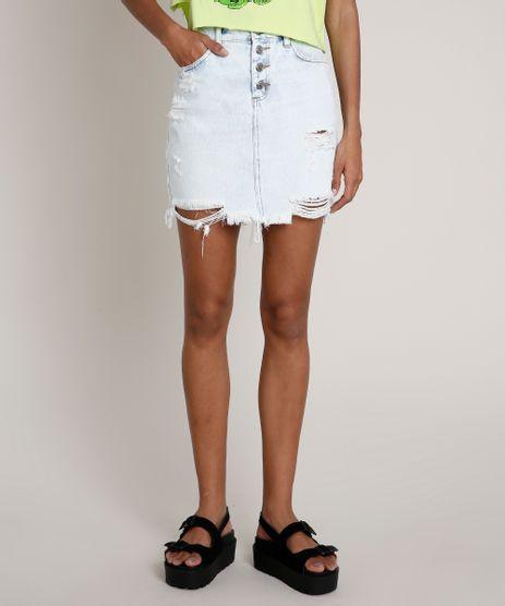 Saia-Jeans-Feminina-com-Rasgos-e-Botoes-Barra-Desfiada-Azul-Claro-9834410-Azul_Claro_1