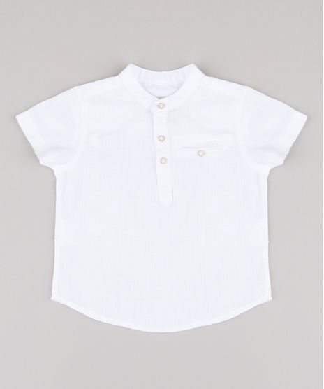 Camisa-Infantil-com-Bolso-Manga-Curta-Gola-Padre-Branca-9670884-Branco_1