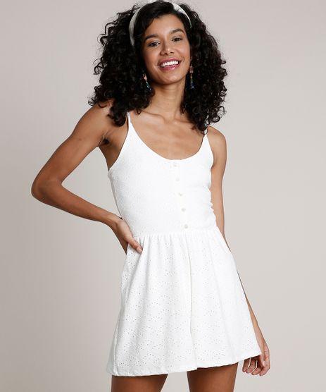Macaquinho-Feminino-em-Laise-com-Botoes--Alca-Fina-Off-White-9776166-Off_White_1