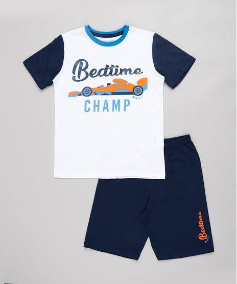 Pijama-Infantil-Carro-de-Corrida--Bedtime-Champ--Manga-Curta-Off-White-9762294-Off_White_1