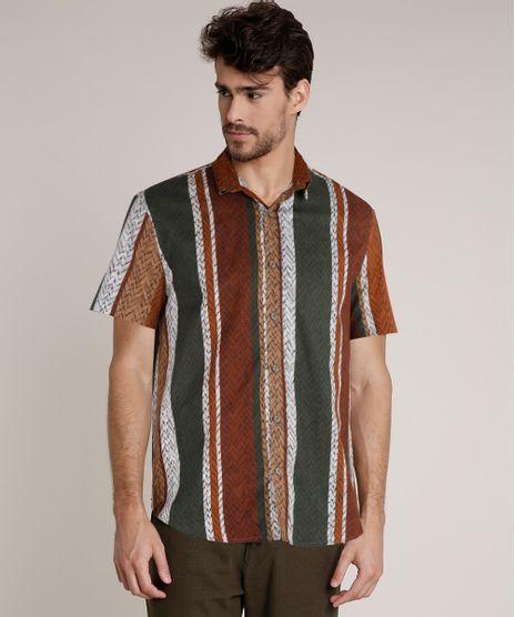 Camisa-Masculina-Agua-de-Coco-Tradicional-Estampada-Cesto-Listrado-Manga-Curta-Verde-Escuro-9727427-Verde_Escuro_1
