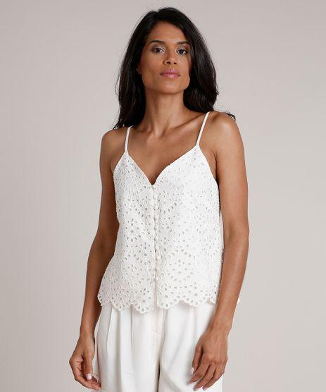 Regata-Feminina-em-Laise-com-Botoes-Alca-Fina-Decote-V-Off-White-9684033-Off_White_1
