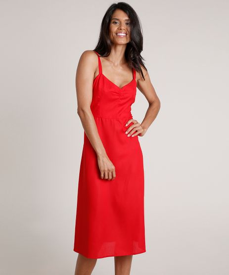 Vestido-Feminino-Midi-Evase-Alca-Fina-Vermelho-9683793-Vermelho_1