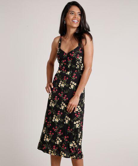 Vestido-Feminino-Midi-Evase-Estampado-Floral-Alca-Fina-Preto-9683795-Preto_1