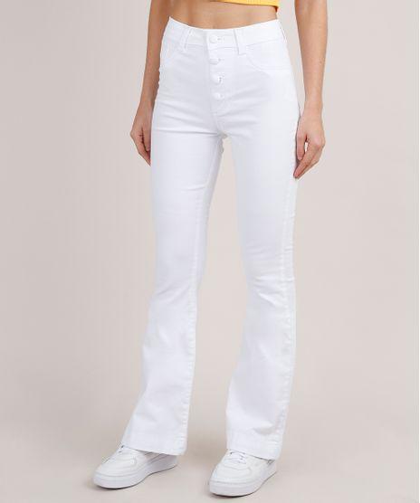 Calca-Jeans-Feminina-Sawary-Cintura-Media-Flare--Branca-9855745-Branco_1