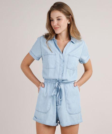 Macaquinho-Jeans-Feminino-com-Botao-Manga-Curta-Azul-Claro-9766726-Azul_Claro_1