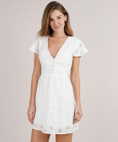 Vestido-Feminino-Curto-em-Laise-Manga-Curta-Off-White-9682336-Off_White_1