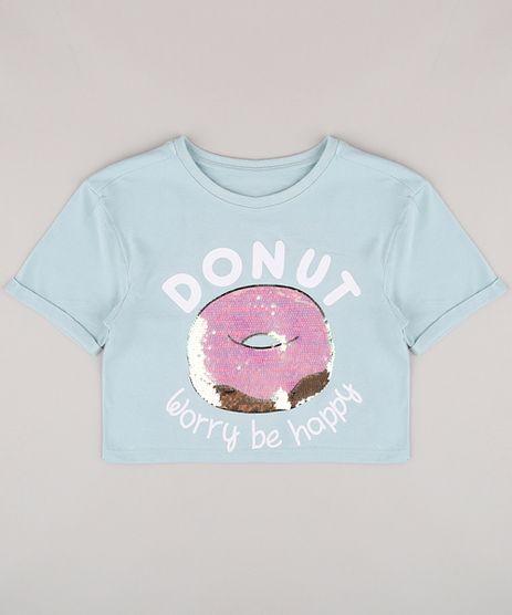 Blusa-Infantil-Cropped-com-Estampa-de-Donut-e-Paete-Manga-Curta-Verde-9805842-Verde_1