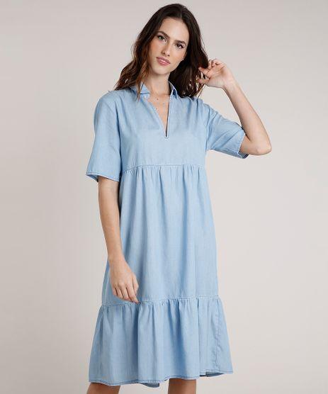 Vestido-Feminino-Mindset-Midi-com-Recortes-Manga-Curta-Azul-Claro-9891623-Azul_Claro_1