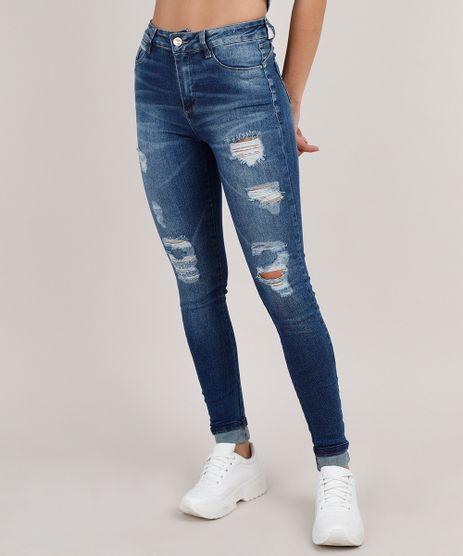 Calca-Jeans-Feminina-Sawary-Cigarrete-Push-up-Destroyed-Cintura-Alta-Azul-Escuro-9855749-Azul_Escuro_1