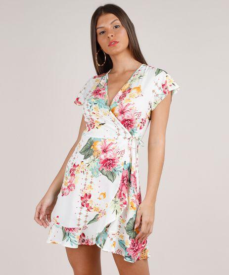 Vestido-Feminino-Estampado-Floral-Transpassado-Manga-Curta-Decote-V-Branco-9807893-Branco_1