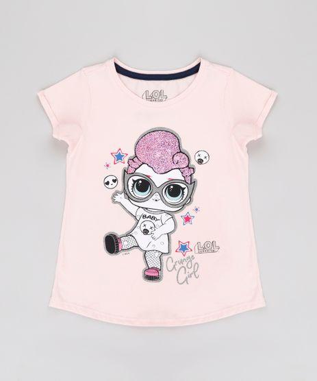 Blusa-Infantil-LOL-Suprise-com-Brilho-Manga-Curta-Rosa-Claro-9812245-Rosa_Claro_1