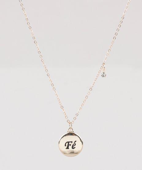 Colar-Feminino-Folheado-com-Pingente--Fe--Dourado-9775321-Dourado_1