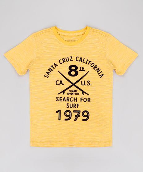Camiseta-Infantil-Listrada-Surf-Manga-Curta-Amarela-9768843-Amarelo_1