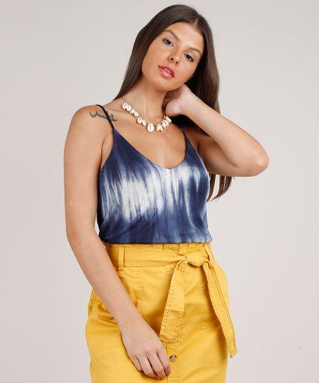 Regata-Feminina-Estampada-Tie-Dye-Alca-Fina-Decote-V-Azul-Marinho-9824833-Azul_Marinho_1