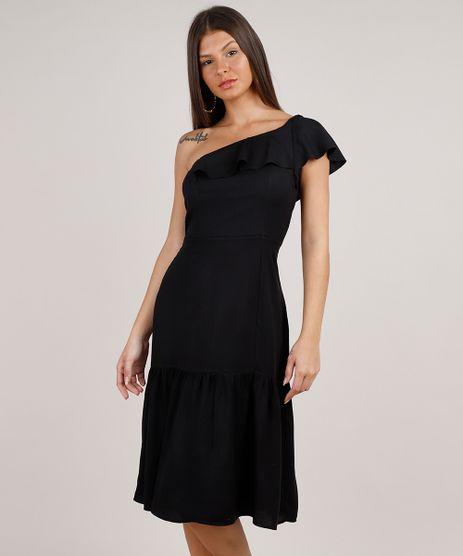 Vestido-Feminino-Midi-Um-Ombro-So-com-Babado--Preto-9846083-Preto_1
