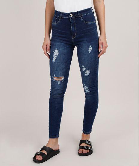 Calca-Jeans-Feminina-Sawary-Cigarrete-Push-up-Cintura-Alta-Destroyed-Azul-Escuro-9855743-Azul_Escuro_1